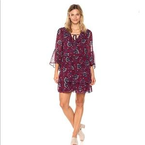 Kensie Women's Floral Print Bell Sleeve Dress